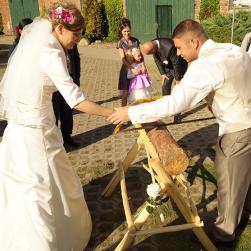 Zur Hochzeit-Baumstamm sägen-DJ Mario Schulz